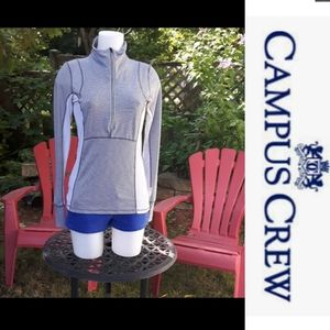Size M Campus crew sweater with thumb holes